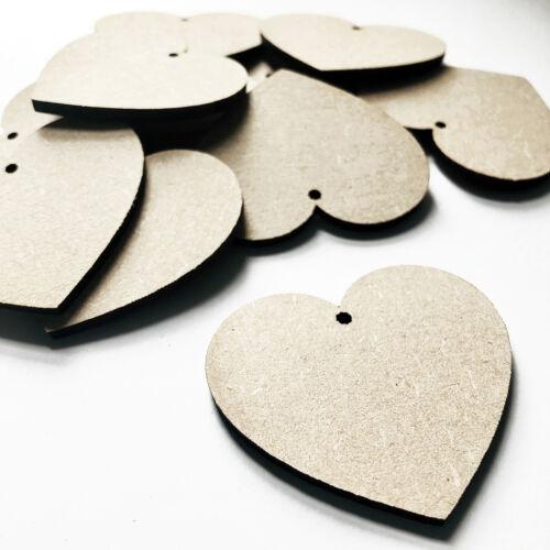 Formas de Corazón de Madera Agujero De Madera De Mdf De Artesanía Adornos etiquetas espacios en blanco