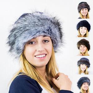 Futrzane Faux Fake Fur Hat with Fleece Russian Cossack Winter Ladies ... dde82b2d19ee