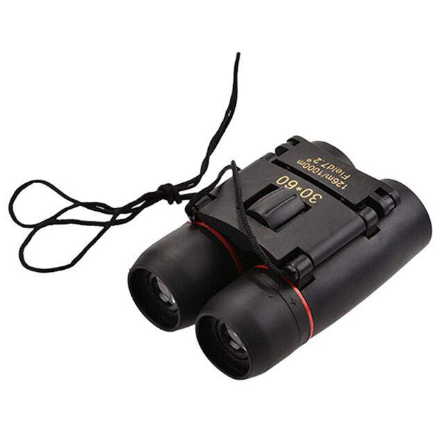 Mini Binoculars 30x60 Folding Day Night Vision Zoom Telescope 126M-1000M +  D3D3