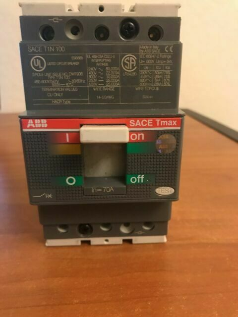 ABB SACE Tmax T1N 100 amp 3 Pole 600y Circuit Breaker Newest version