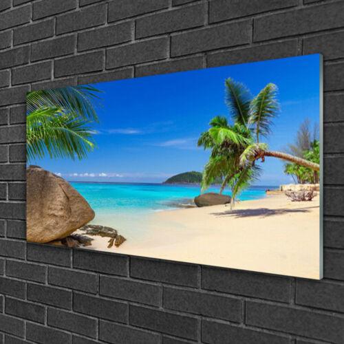 Wandbilder 100x50 Glasbild Druck auf Glas Strand Meer Steine Landschaft