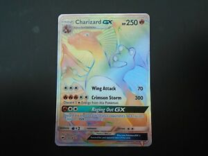Pokemon Card Charizard GX 150/147 Burning Shadows Rainbow Secret Rare