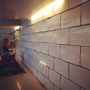 Gloss White Spanish Handmade Subway Tiles 150x75mm Premium