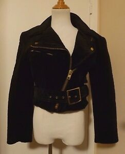 Fully Lined Quilted Jacket Size Cotton Black Usa Nwt Motorcycle M Patricia Jones BqWHwxT7F