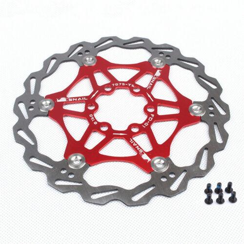 160//180mm Floating MTB Brake Rotors 420 Stainless Steel Mountain Bike 6 Screws