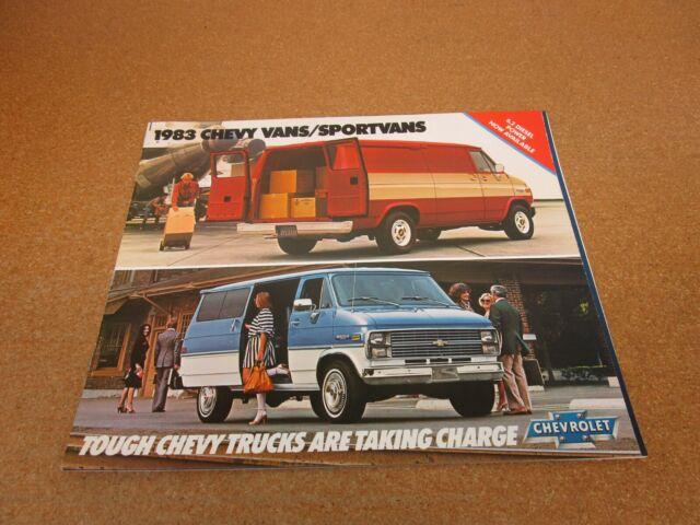 1983 83 Chevrolet Beauville Van G10 G20 G30 Sportvan Sales