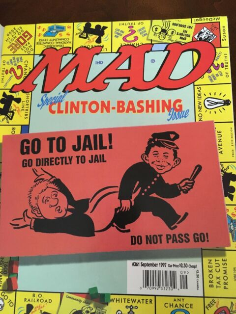 MAD Magazine #361 September 1997, Special Bill CLINTON-BASHING w/ mail cover