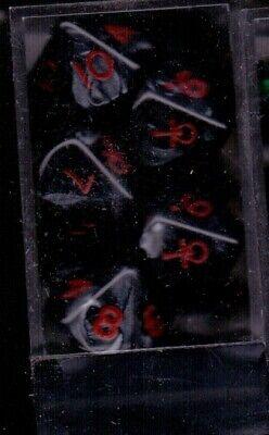 Ordinato Set De 10 Des 10 Marbres Noir Vampire Le 1 Est Remplace Par Un Ankh