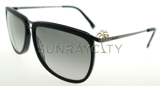 Lacoste Black   Gray Aviator Sunglasses L127s 001   eBay 7f58959c6f