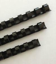 78 Plastic Binding Combs Black Set Of 25