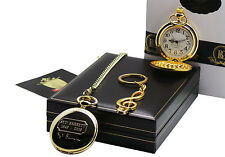 SIGNED SYD BARRETT Pocket Watch Musicial Note Keyring Luxury Gift Set PINK FLOYD