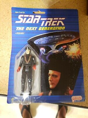 GEORDI Star Trek:Next Generation 1988 Galoob Action Figure MOC Unpunched