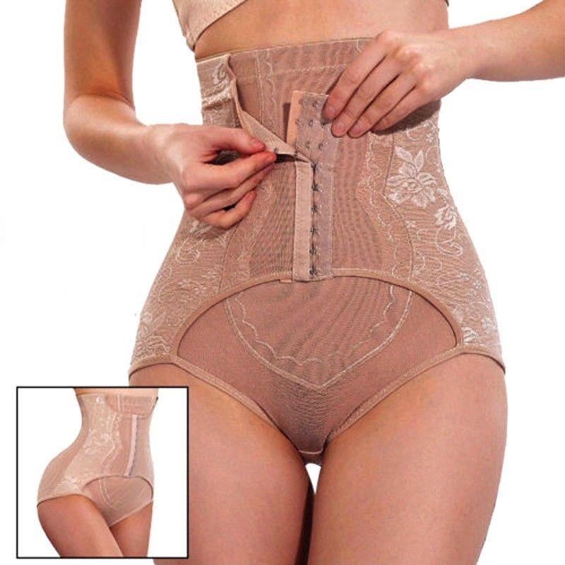 646951b6b0 Women Hi-Waist Tummy Control Body Shaper Waist Training Panty Girdle Slim  Shorts