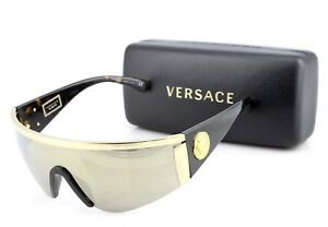 49d4ecf794098 Image is loading NEW-Genuine-VERSACE-TRIBUTE-Gold-Havana-Brown-Shield-