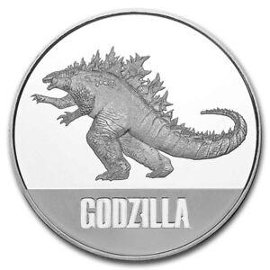 2021 Silver 1 oz $2 Godzilla Coin BU
