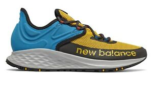 NEW-BALANCE-Fresh-Foam-Roav-Trail-Running-Scarpe-Uomo-GOLD-BLUE-BLACK-MTROVRG