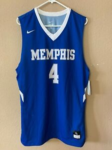 official photos 935bd 58a5a Details about NWT MEMPHIS TIGERS Nike Dri Fit Sample Basketball Jersey Size  L Large NCAA