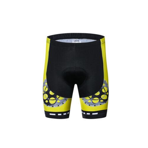 Reflective Bicycle Jersey Yellow Black and Padded Bike Shorts Men/'s Cycling Kit