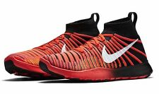 MENS NIKE FREE TR FORCE FLYKNIT CRIMSON  BLACK   SZ 10.5