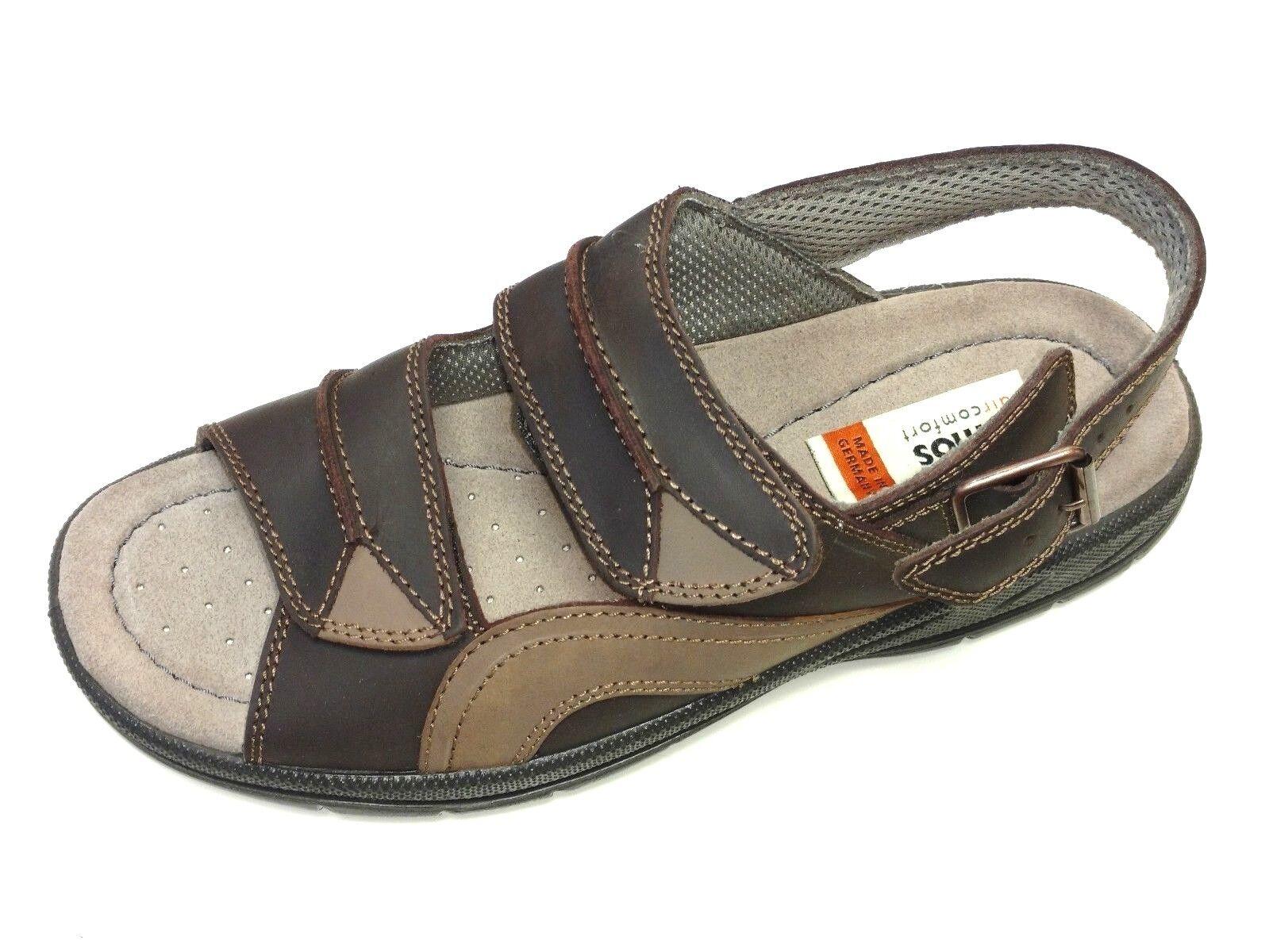 Jomos Herren Schuhe Sandale Sandalette 503620 65 3121 Leder braun Weite H