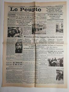 N235-La-Une-Du-Journal-le-peuple-2-aout-1936-guerre-en-Espagne