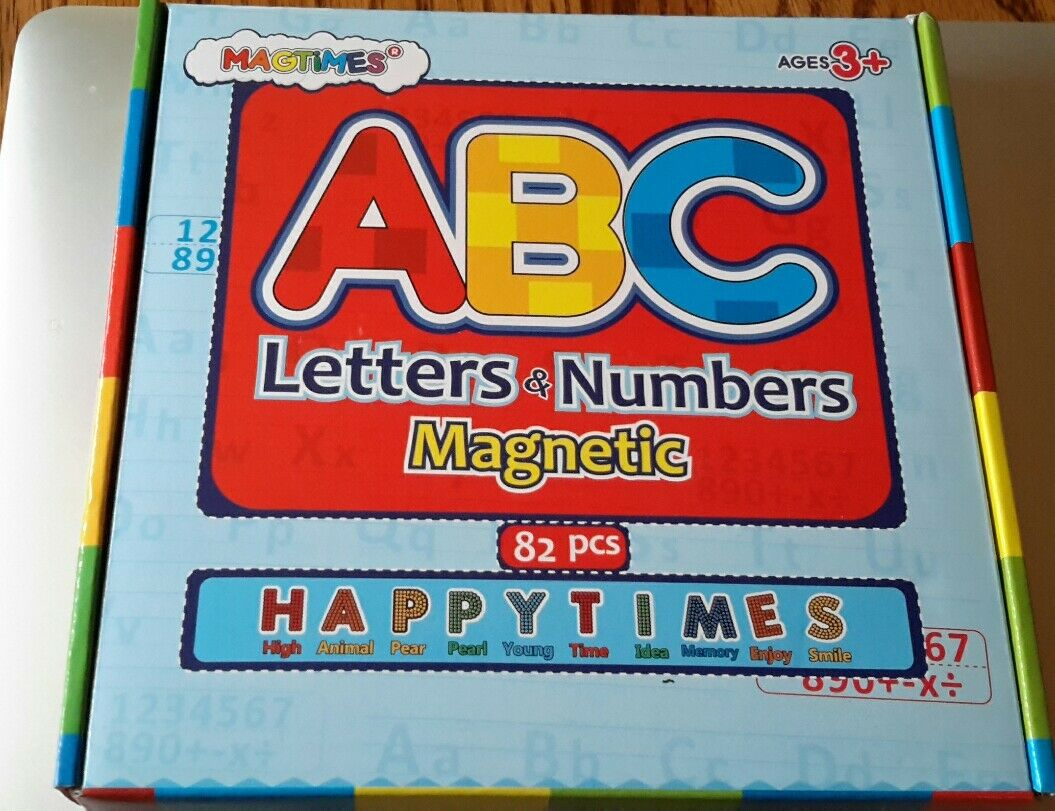 Magtimes magnetic letters&numbers for educating kids 3+