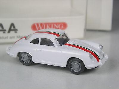 TOP Wiking Sondermodell Porsche 356 Coupé silber mit Flagge zur IAA 2001 in OVP
