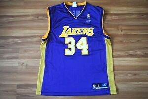 84d836cfe3f LOS ANGELES LAKERS NBA 34 O'NEAL REEBOK SHIRT JERSEY SIZE LARGE ...