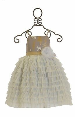 NWT Magpie /& Mabel Moxie Dahlia in Filigree Gold Fawn Tulle Dress sz 3T 4T