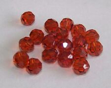 12 - Swarovski 8mm Crystal Indian Red   Faceted Round Beads #5000