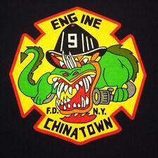 CHINATOWN dragon logo Fire Department youth lrg T shirt NYFD kids tee New York