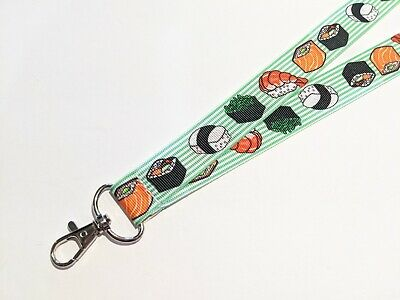 Handmade 1 Wide ID Lanyard with a Lobster Claw Clasp Ocean Fish