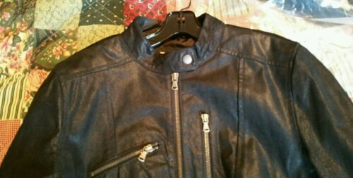 L Black Motorcycle Nwot Levis Suede Jacket 250 Leather Sz Distressed Style q4Ht804