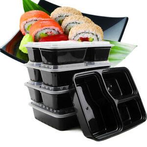 10-PC-Microondas-3-compartimentos-Plastico-Caja-de-Almuerzo-Comida-Contenedor-de-almacenamiento-de