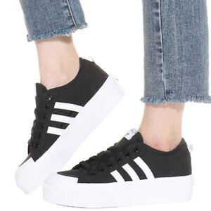 Details about Adidas FV5321 Nizza Platform W shoes Black/White Women sneakers
