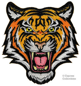 BENGAL-TIGER-iron-on-PATCH-embroidered-ROARING-WILD-ANIMAL-SOUVENIR-APPLIQUE-new