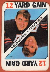 1971-Topps-Game-Insert-1-Dick-Butkus-VG-VG-Scratch-Chicago-Bears-FREE-SHIPPING