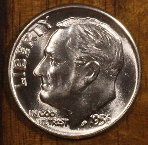 1956-D 10C Roosevelt Silver Dime BU