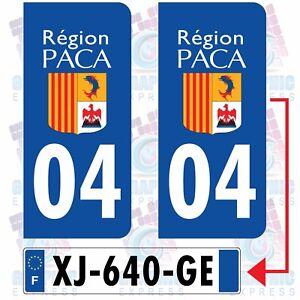 04 Alpes de Haute Provence autocollant plaque droits