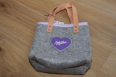 Besorgt Kindertasche - Tasche - Filztasche - Neu - Von Milka Im Sommer KüHl Und Im Winter Warm