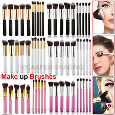10pcs Kabuki professionale make up pennelli Set Fondazione Fard Cipria KIT