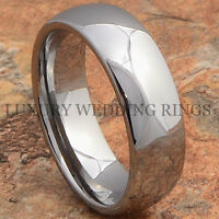 Tungsten Wedding Band Men Or Women Ring Shiny Jewelry Titanium Color Size 6-13