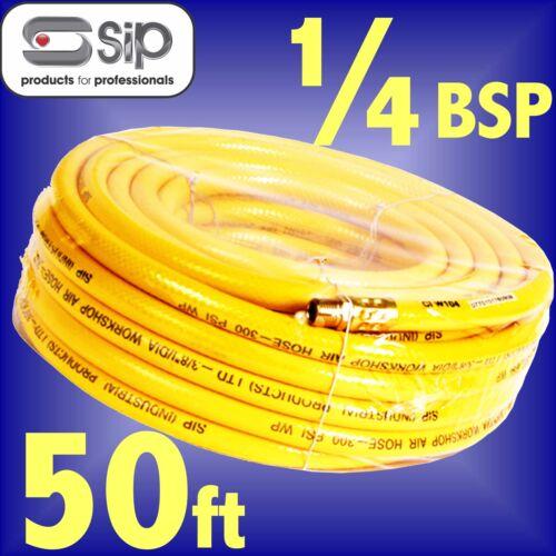 SIP 07701 Reinforced PVC Workshop Air Hose 50ft 15m 1/4 BSP ends airline line