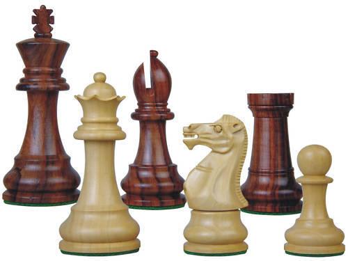 Staunton Chess Set Pieces pinkwood Monarch 3.75  Ex Qns