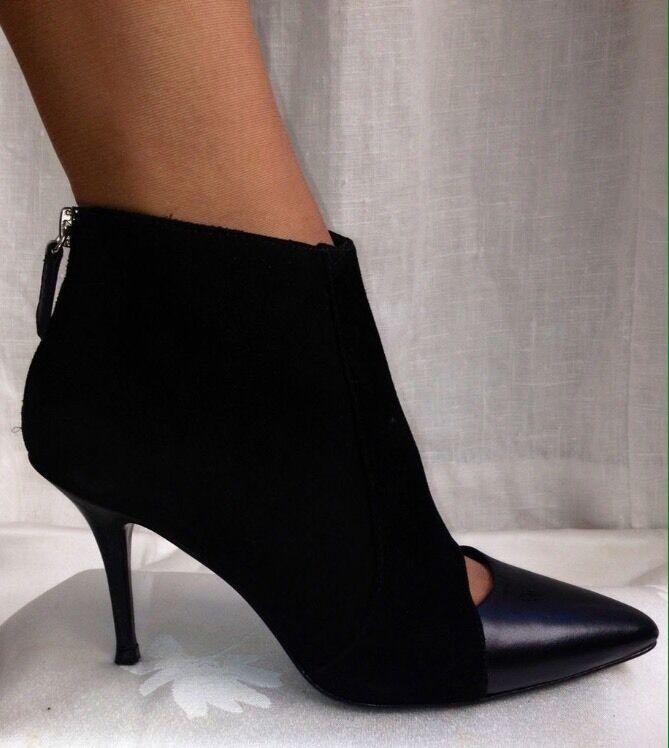 Bottines noir boots MAJE cuir et daim noir Bottines -  T. 38 d79e7d