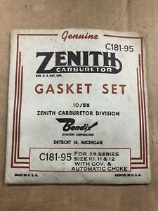NOS-ZENITH-CARBURETOR-GASKET-KIT-C181-95-FOR-28-SERIES-SIZE-10-11-12-GOV-CARB