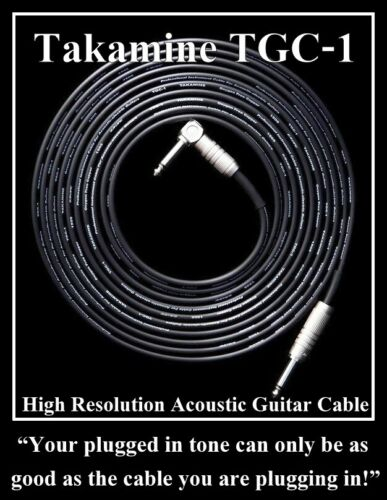 Takamine Guitar Cable TGC-1 5.5m 18ft High Resolution Acoustic Guitar Cable