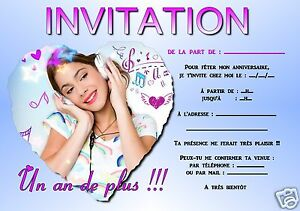 5 Or 12 Birthday Invitation Cards Violetta Ref 33 Ebay