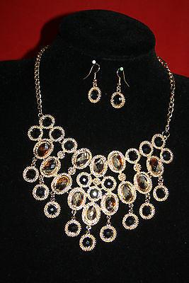 Braut-accessoires FleißIg Wunderschönes Collier Luxus Kette Schmuck Set Modeschmuck In Goldfarbe 1 Schwarz Hochzeit & Besondere Anlässe
