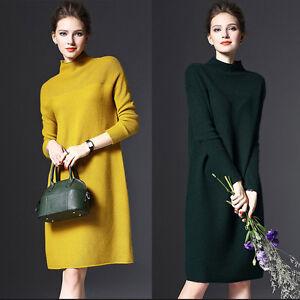 Autumn-Winter-Women-Long-Sleeve-knit-Bodycon-Tops-Slim-Party-Sweater-Mini-Dress